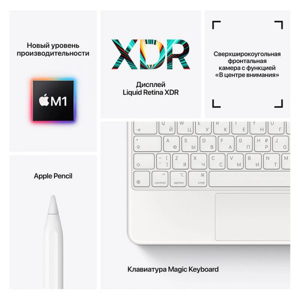 Планшет Apple iPad Pro 12.9 Wi-Fi 256GB (2021) Space gray Серый космос (MHNH3)-8