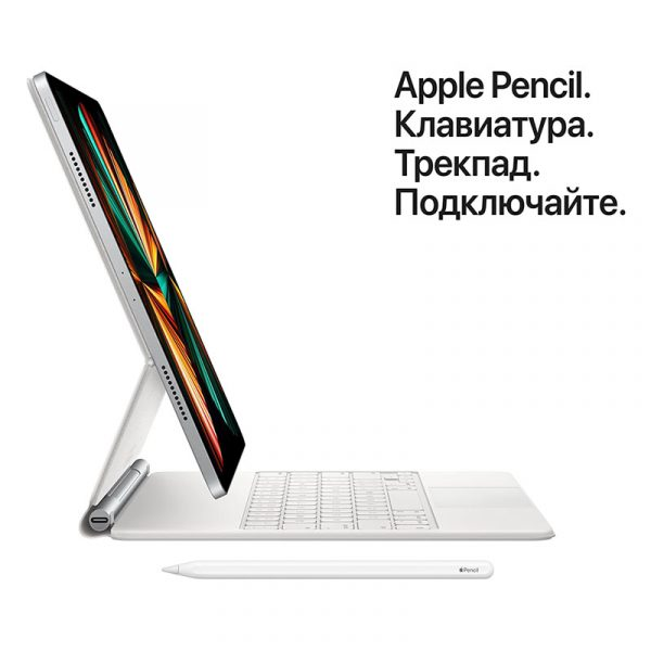 Планшет Apple iPad Pro 12.9 Wi-Fi + Cellular 256GB (2021) Silver Серебристый (MHR73)-6