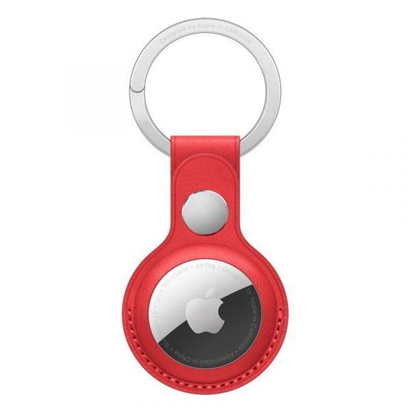 Чехол Apple для AirTag с кольцом для ключей красный