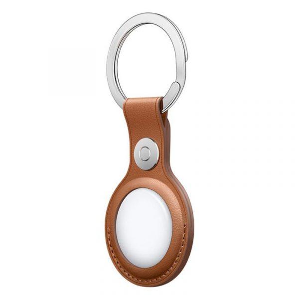 Чехол Apple для AirTag с кольцом для ключей золотисто-коричневый-2