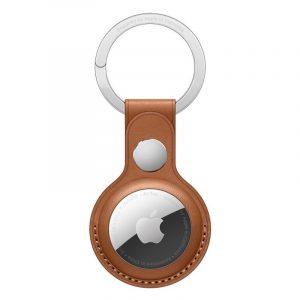 Чехол Apple для AirTag с кольцом для ключей золотисто-коричневый