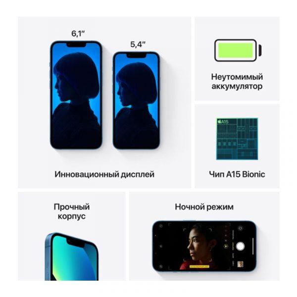 Смартфон Apple iPhone 13 128GB Blue (MLP13)-7