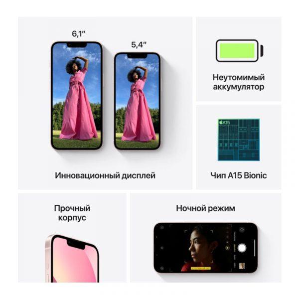 Смартфон Apple iPhone 13 256GB Pink (MLP53)-6