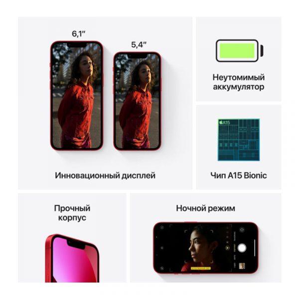 Смартфон Apple iPhone 13 mini 128GB Midnight (MLLV3)-7