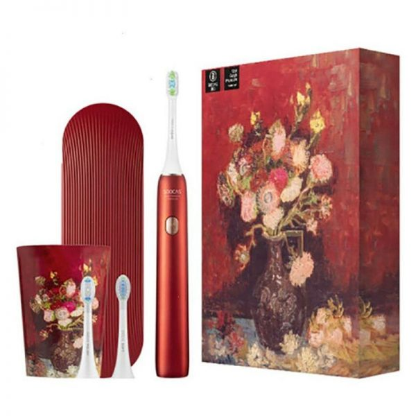 Электрическая зубная щетка Xiaomi Soocas X3U Van Gogh Museum Design Красная-1