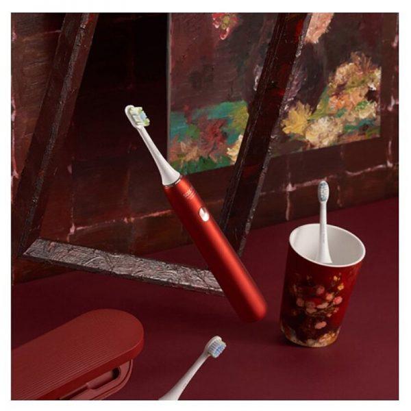 Электрическая зубная щетка Xiaomi Soocas X3U Van Gogh Museum Design Красная-3