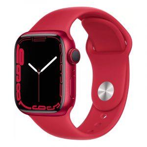 Умные часы Apple Watch Series 7 GPS 41мм Aluminium with Sport Band (PRODUCT)RED (MKN23)