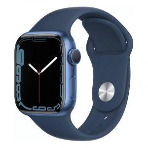 Умные часы Apple Watch Series 7 GPS 41мм Aluminium with Sport Band Синий омут (MKN13)
