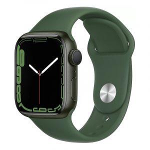 Умные часы Apple Watch Series 7 GPS 41мм Aluminium with Sport Band Зелёный клевер (MKN03)