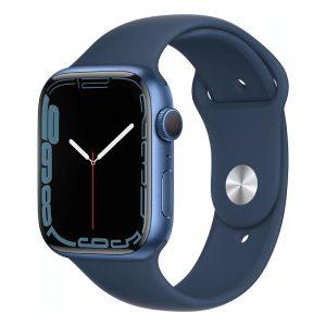 Умные часы Apple Watch Series 7 GPS 45мм Aluminium with Sport Band Синий омут (MKN83)